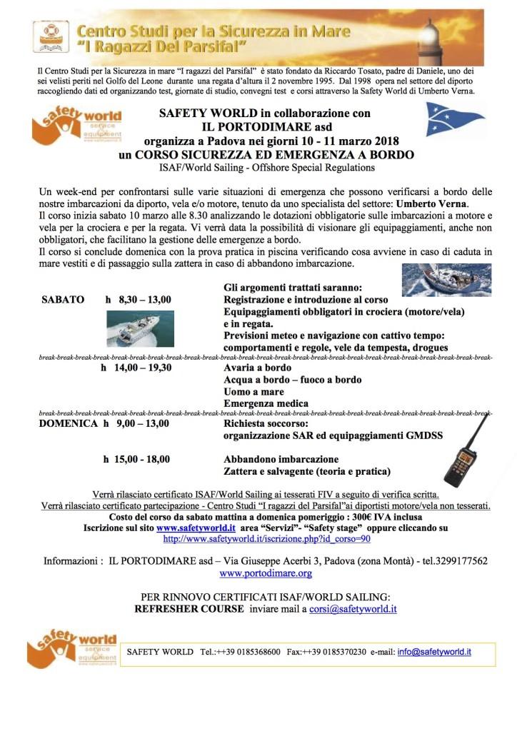 programma corso Padova
