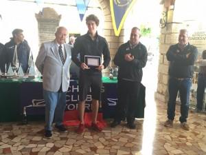 Sergio Caramel premiato come skipper più giovane